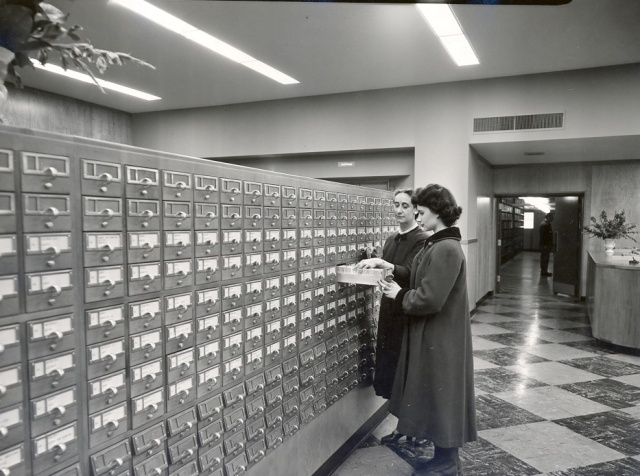 'Central Library Card Catalogue - 1954' by Providence Public Library
