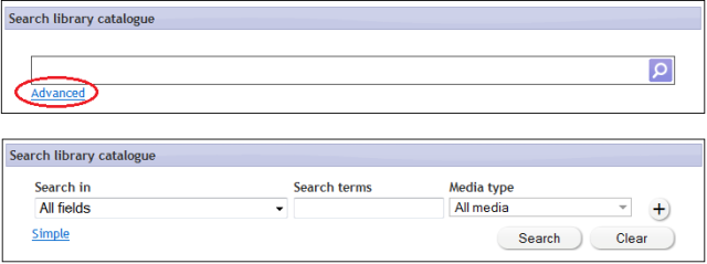 Advanced search box