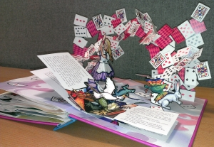 A pop up book from the collection (illustrated by Robert Sabuda)