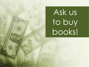 Ask us to buy books!