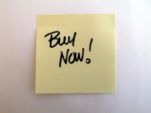 buy now post-it note