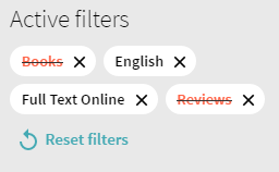 When searching for digital materials, be sure to exclude 'Books' from your filters